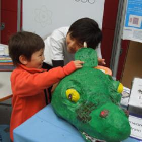 Photo of dinosaur brain outreach activity