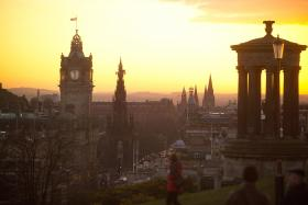 Photograph of an Edinburgh sunset