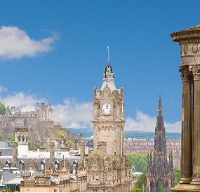 Photograph of Edinburgh skyline