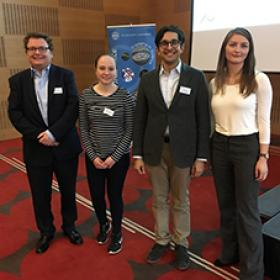 Photo of Neuroscience Day 2018 student speakers
