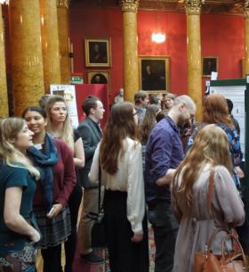Photograph of poster presentation session