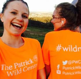 Photograph of researchers taking part in the #wildmiles campaign